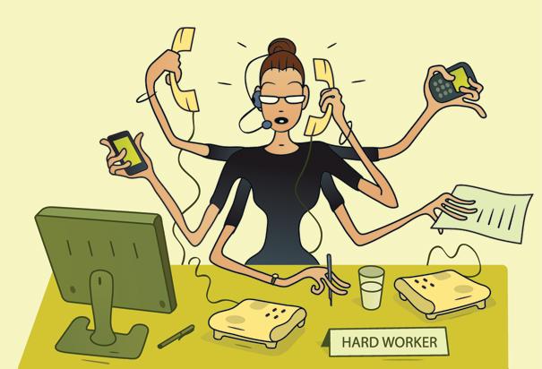 çok çalışan kadın