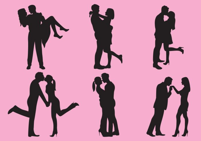 vector-woman-and-man-love-silhouettes